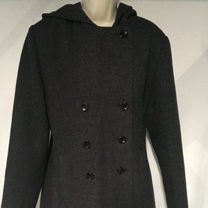 HERMAN KAY Wool Blend Pea Coat Size 16 VINTAGE Hoo